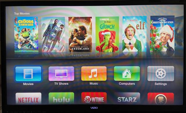 Old Apple TV Home screen