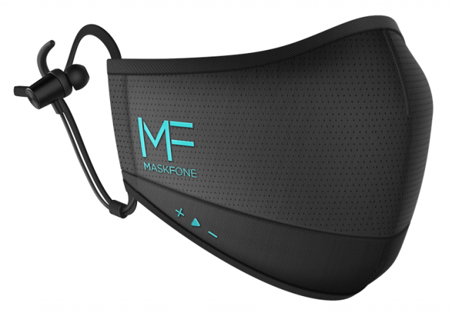 Maskfone Face Mask with Earbuds