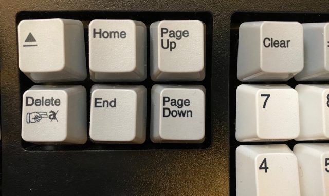 Eject, Delete, Home, End, Page Up and Down keys