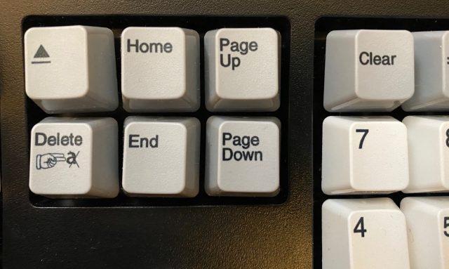 Eject-, Delete-, Home-, End-, Page Up en Down-toetsen