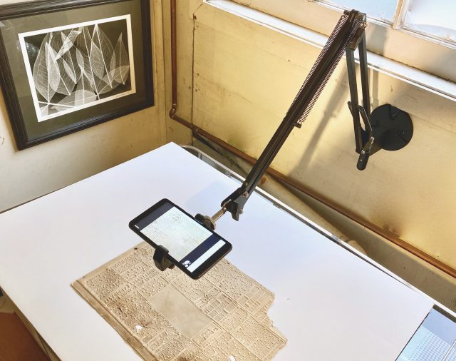 iPhone document stand