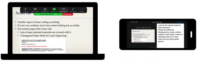 Controlling Keynote with the Keynote app