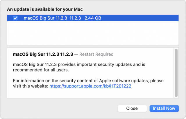macOS 11.2.3 release notes