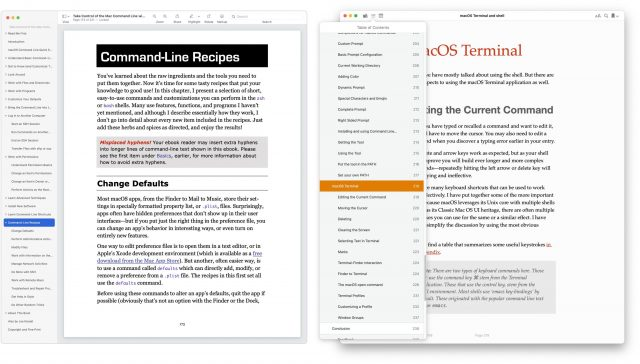 Comparing ToC between Preview and Books