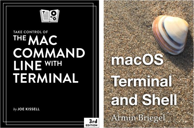 Book covers for two Terminal books