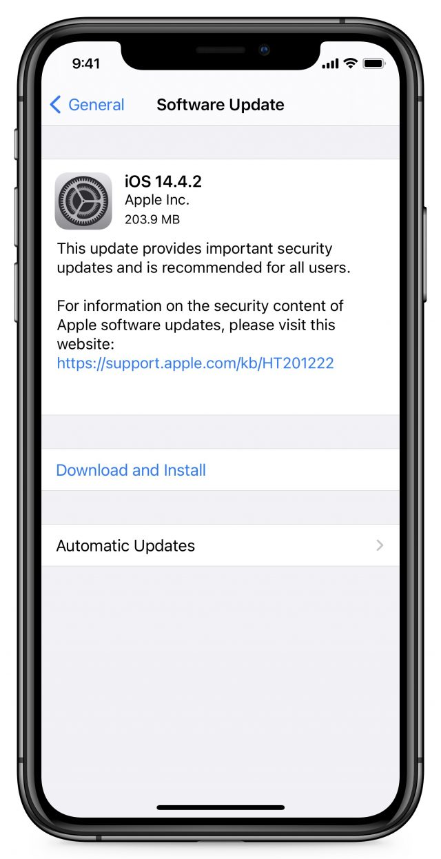 iOS 14.4.2 release notes