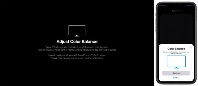 Starting Color Balance on the TV and iPhone