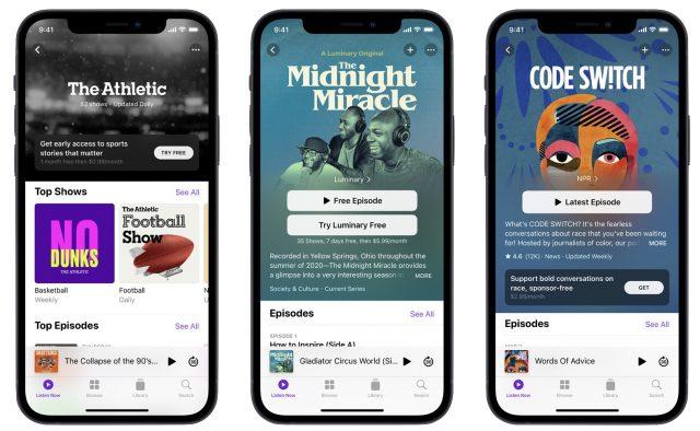 Podcasts premium subscriptions