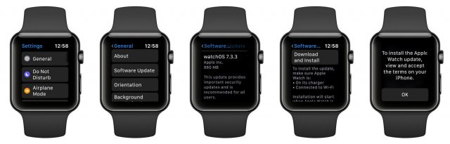 Updating watchOS on the Apple Watch