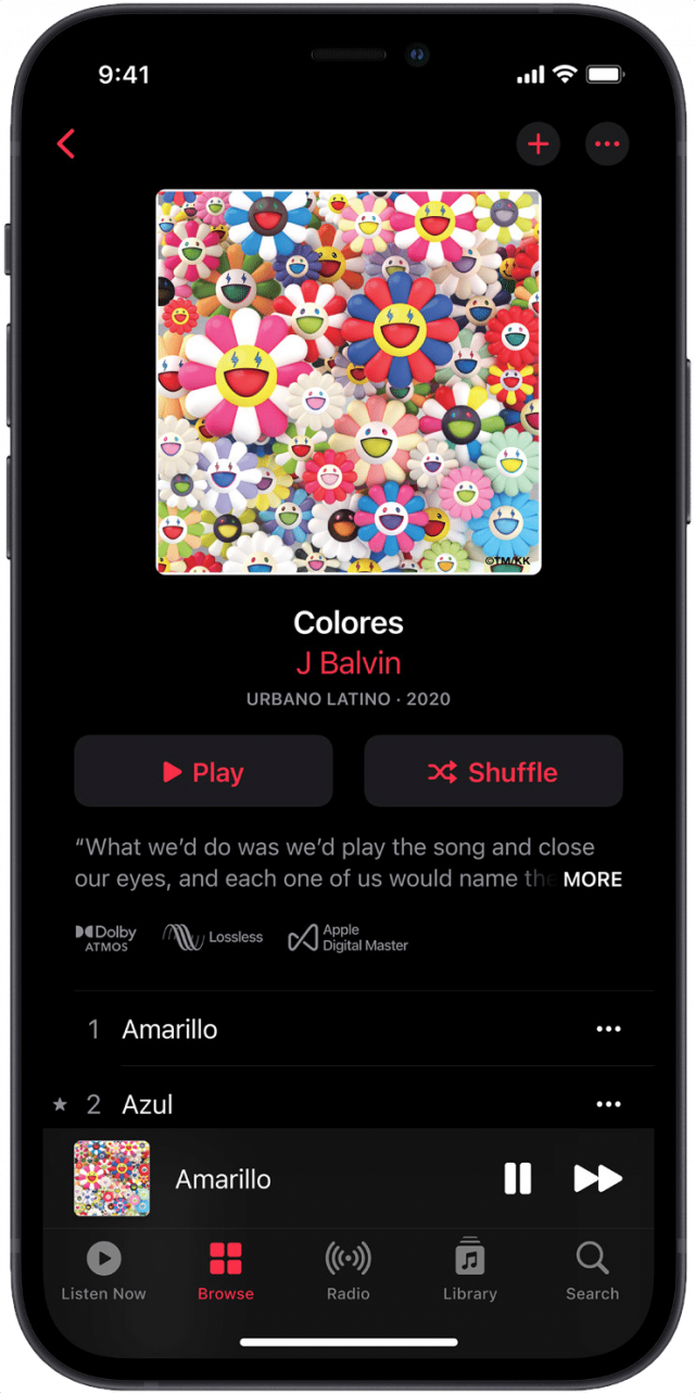 Dolby Atmos and lossless in Apple Music