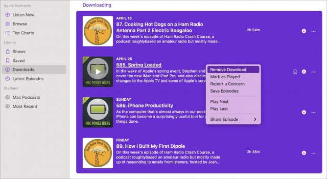 Removing mulitple downloads on Mac