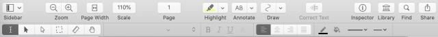 PDFpen 13 toolbar