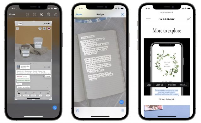 Text recognition in iOS 14