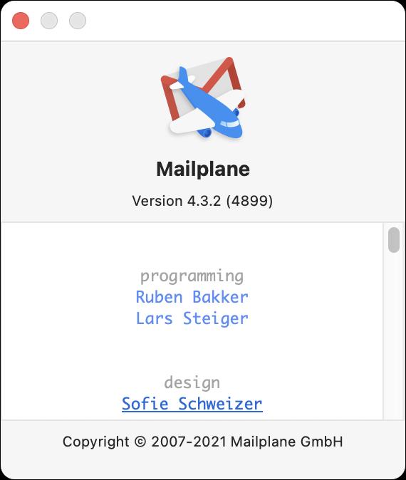 Mailplane About box