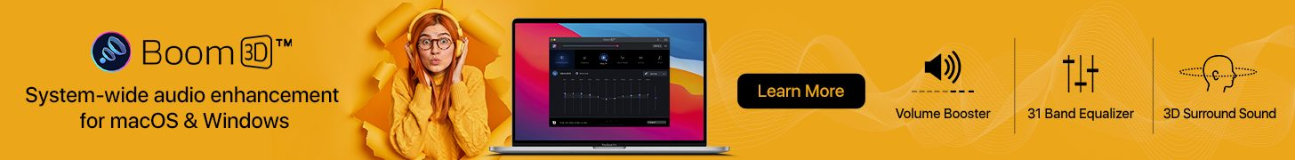 Boom 3D: System-wide audio enhancement for macOS & Windows