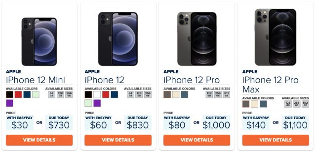 Consumer Cellular's iPhone lineup