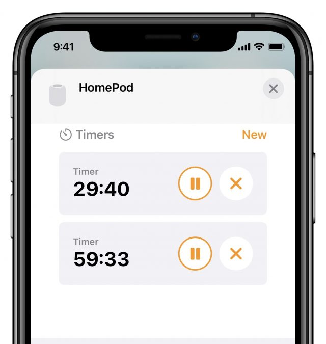Controlling HomePod timers in the Home app