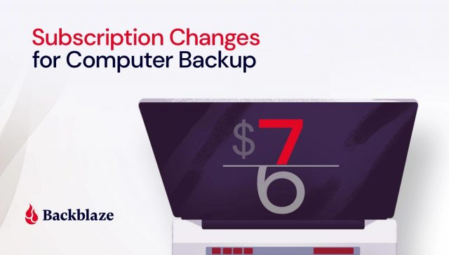 Backblaze price increase