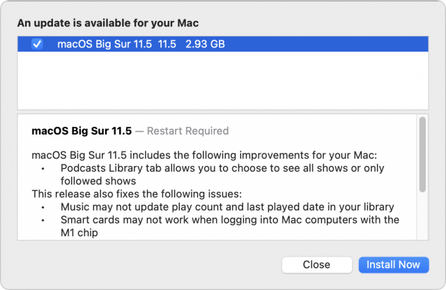 macOS 11.5 release notes