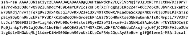 RSA key
