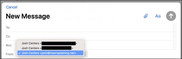 Het instellen van een Van-adres in iCloud webmail