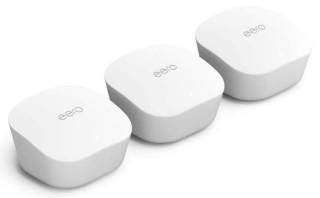 Three Eero nodes