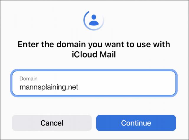 Aangepast domein invoeren