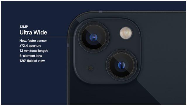 iPhone 13 ultra wide camera details