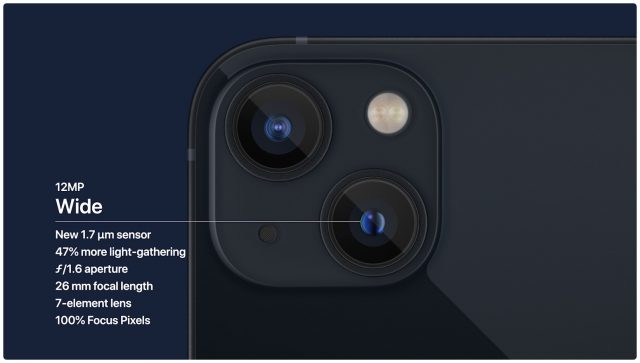iPhone 13 wide camera details