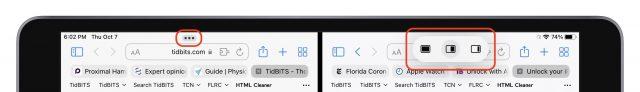 iPadOS 15 multitasking-bediening en menu