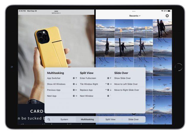 Sneltoetsen voor multitasken in iPadOS 15