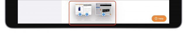 De strip in Safari in iPadOS 15